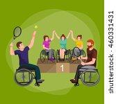 disable handicap sport games...   Shutterstock .eps vector #460331431