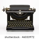 antique typewriter | Shutterstock . vector #46033972