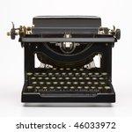 antique typewriter | Shutterstock . vector #46033972