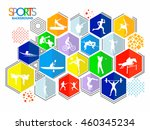 creative colorful sports... | Shutterstock .eps vector #460345234