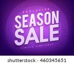 exclusive season sale for... | Shutterstock .eps vector #460345651