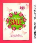 huge sale poster  sale banner ... | Shutterstock .eps vector #460346911