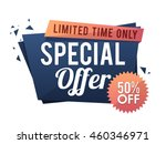 special offer sale with 50  off ... | Shutterstock .eps vector #460346971