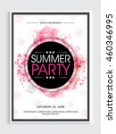 summer party template  dance... | Shutterstock .eps vector #460346995