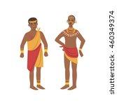 twomen in loincloth from... | Shutterstock .eps vector #460349374