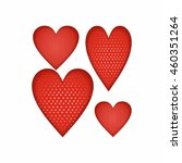 a heart. print fabric. clothing ... | Shutterstock .eps vector #460351264