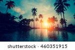 fantastic sunset at a beach... | Shutterstock . vector #460351915