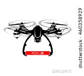 flying drone  quadrocopter  uav.... | Shutterstock . vector #460358929