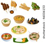 south east asian prepared food   Shutterstock .eps vector #46036153