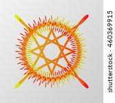 abstract pentagram element... | Shutterstock .eps vector #460369915