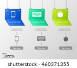 three hanging vector banners... | Shutterstock .eps vector #460371355