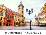 Town Square In Prague  Czech...