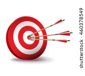 a red archery target with red... | Shutterstock .eps vector #460378549