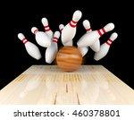 bowling strike  scattered... | Shutterstock . vector #460378801