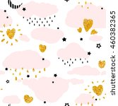 seamless patterns with cute... | Shutterstock .eps vector #460382365