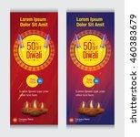 diwali offer banner template... | Shutterstock .eps vector #460383679