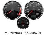speedometer  tachometer ... | Shutterstock .eps vector #460385701