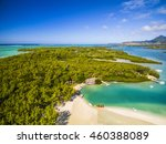 mauritius beach aerial view of... | Shutterstock . vector #460388089