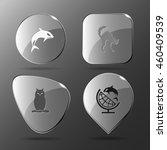 4 images  killer whale  cat ... | Shutterstock .eps vector #460409539