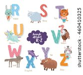 cute zoo alphabet in vector. r  ... | Shutterstock .eps vector #460410325