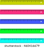colorful ruler | Shutterstock . vector #460416679