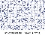 doodle school seamless pattern... | Shutterstock .eps vector #460417945