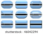 nine glass buttons of the  flag ... | Shutterstock . vector #46042294