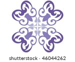 decorative wallpaper design in... | Shutterstock .eps vector #46044262
