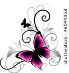 Beautiful Pink Butterfly On...