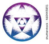 sacred geometry symbol. mandala ... | Shutterstock .eps vector #460445851