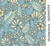 floral seamless pattern.... | Shutterstock .eps vector #460449559
