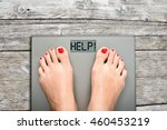 help to lose kilograms with... | Shutterstock . vector #460453219