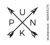 punk badge label. for signage ... | Shutterstock .eps vector #460455175