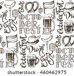 october fest. vector  beer... | Shutterstock .eps vector #460462975