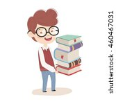 the child goes to school....   Shutterstock .eps vector #460467031