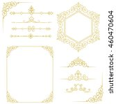 set of vintage elements.vintage ... | Shutterstock . vector #460470604