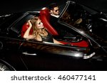 couple in luxury car. night... | Shutterstock . vector #460477141