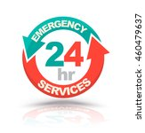 emergency services 24 hours... | Shutterstock .eps vector #460479637