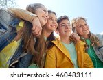 friendship and people concept   ... | Shutterstock . vector #460483111