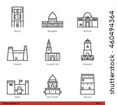 asian capitals  part 5    line... | Shutterstock .eps vector #460494364