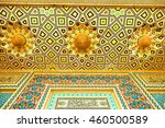Small photo of blur in iran abstract texture of the religion architecture mosque roof persian history