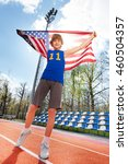 sports winner with american... | Shutterstock . vector #460504357