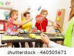 Cute Kids Having Fun Teaching...