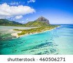 mauritius beach island aerial... | Shutterstock . vector #460506271