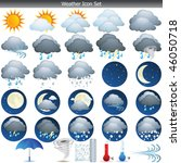 weather icons set vector... | Shutterstock .eps vector #46050718