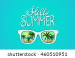 white sunglasses reflection... | Shutterstock .eps vector #460510951