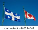 Quebec And Canada Flags...