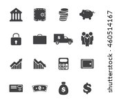 banking icons set. vector... | Shutterstock .eps vector #460514167