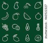 vector set of chalk doodle... | Shutterstock .eps vector #460522327