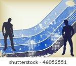 retro grunge background with... | Shutterstock . vector #46052551